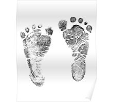 Baby Footprints. Adorable Baby Feet Perfect For New Baby Boy or Baby Girl Poster