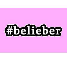 Belieber - Hashtag - Black & White Photographic Print