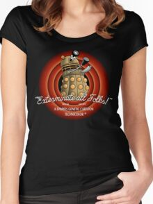 Exterminate All Folks! Women's Fitted Scoop T-Shirt