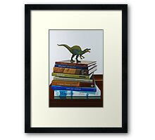 Dinosaurs, 2014, Oil on Linen, 122x83cm. Framed Print