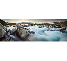 Snowy River Sunset, Mt Kosciuszko, New South Wales, Australia Photographic Print