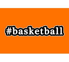 Basketball - Hashtag - Black & White Photographic Print