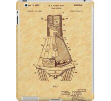 1963 Space Capsule Patent iPad Case/Skin