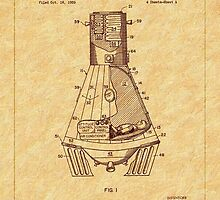 1963 Space Capsule Patent by Barry  Jones
