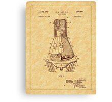 1963 Space Capsule Patent Canvas Print