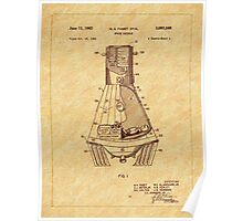 1963 Space Capsule Patent Poster