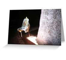 Mary On A Chair Greeting Card