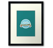 Social Justice Roleplayer Badge Framed Print