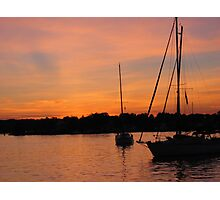 Sunset on Oyster Bay, NY Photographic Print