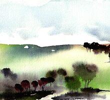 Morning at Tonda's farm 2006 by Kristyna  Silova