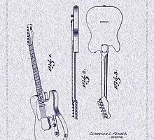 1951 Fender Electric Guitar Patent by Barry  Jones