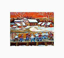 FAMOUS CANADIAN PAINTINGS FOR SALE PONDD HOCKEY IN THE COUNTRY CAROLE SPANDAU Unisex T-Shirt