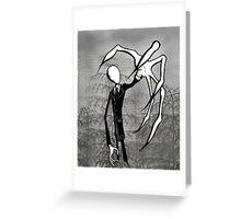 Slender Man Greeting Card