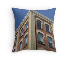 Brick History Throw Pillow