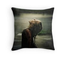 First Taste Of Rain Throw Pillow