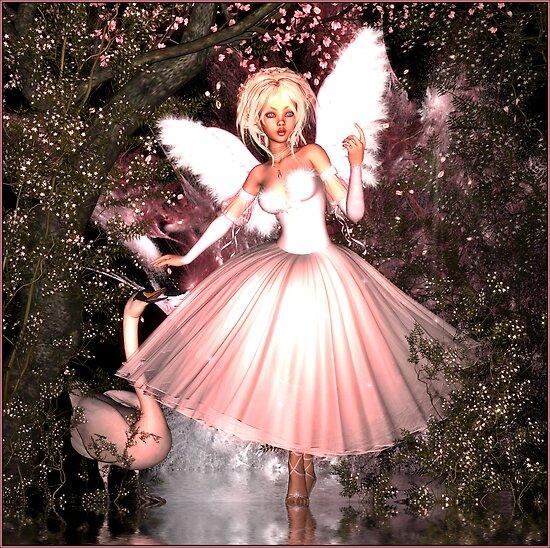 Swan Angel by Rose Moxon