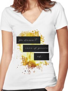Ruok? Part 2 Women's Fitted V-Neck T-Shirt