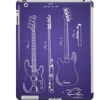Fender Bass Guitar Patent-1953-Blueprint iPad Case/Skin