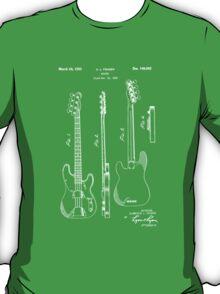 Fender Bass Guitar Patent-1953 T-Shirt