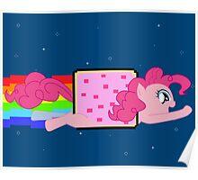Nyan Cat-Pinkie Pie Poster