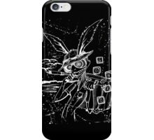 Down The Rabbit Hole (white) iPhone Case/Skin
