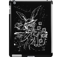 Down The Rabbit Hole (white) iPad Case/Skin