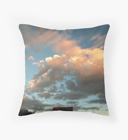 sky channel Throw Pillow