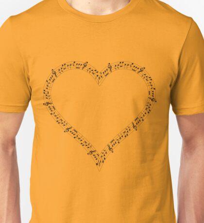 heart music Unisex T-Shirt