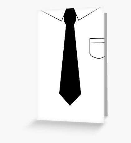 Black tie Greeting Card