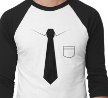 Black tie Men's Baseball ¾ T-Shirt