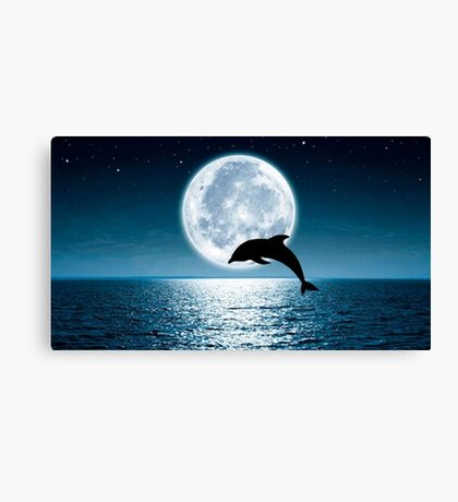 Leaping By the Light of the Moon Canvas Print