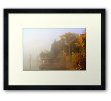 Misty River View Framed Print