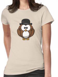 Chaplin Owl Womens Fitted T-Shirt