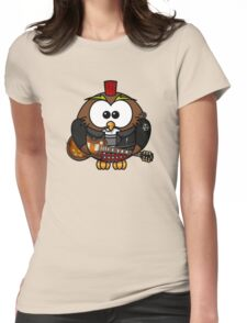 Punk Owl Womens Fitted T-Shirt
