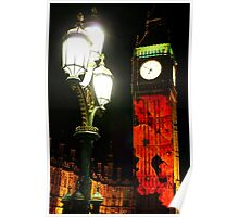 Falling Poppies Big Ben Remembrance Sunday 2014 Poster