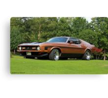 1972 Mach 1 Mustang Canvas Print