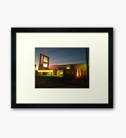A pinball saloon in Goi 02 Framed Print