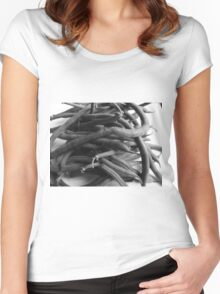 Green Beans Women's Fitted Scoop T-Shirt