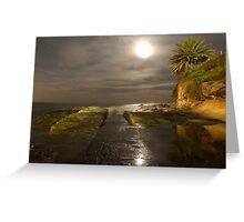 Moonlit path - Cronulla Greeting Card