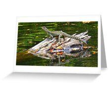 Snowy river water dragon Marlo Vic. Greeting Card