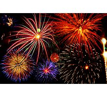 Grand Firework Display Photographic Print