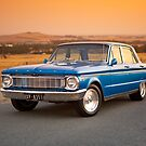 Blue Ford XP at Sunset by John Jovic