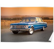 Blue Ford XP at Sunset Poster