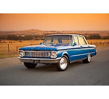 Blue Ford XP at Sunset Photographic Print