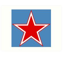 Roundel of the Soviet Air Force Art Print