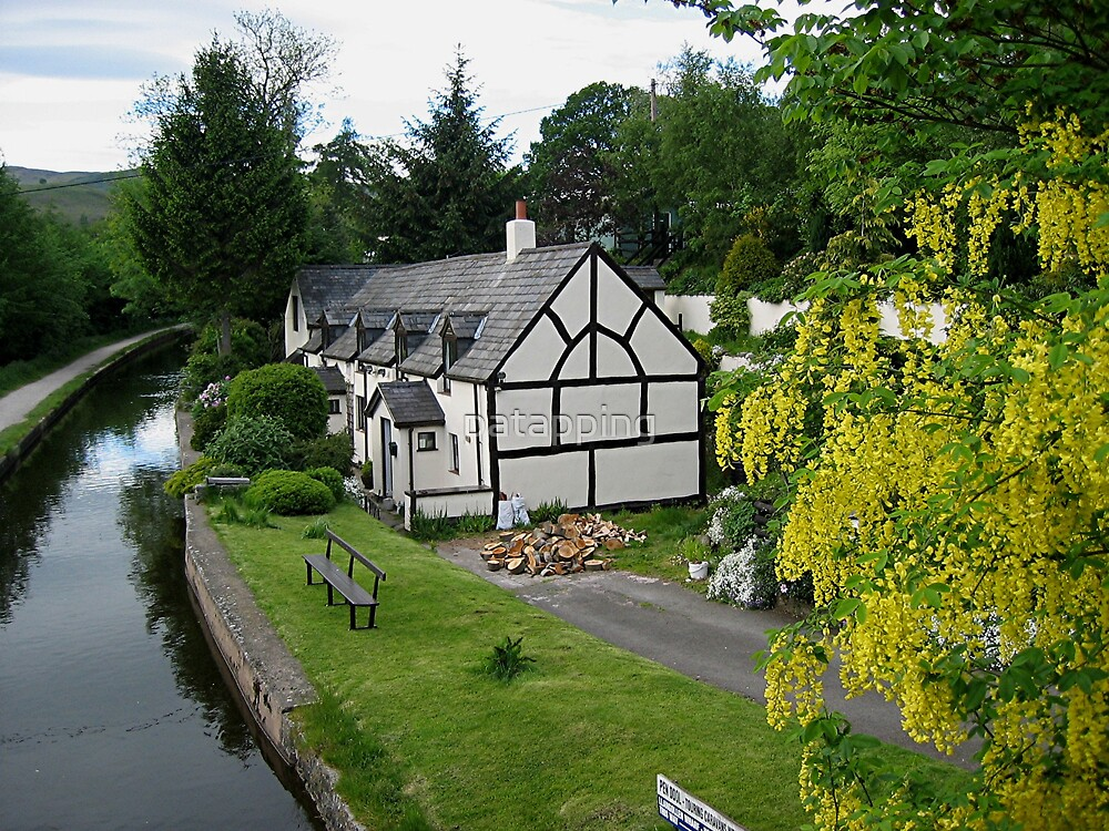 Tudor house by canal by patapping