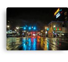 urban downpour Canvas Print