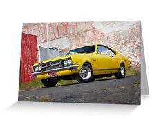 Yellow Holden HK Monaro Greeting Card