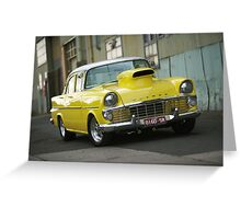 Yellow EK Holden Greeting Card