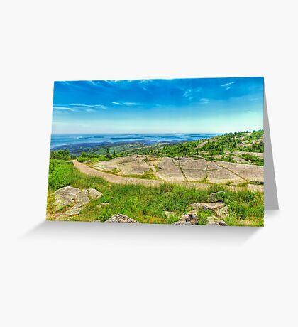 Atop Cadillac Mountain Greeting Card